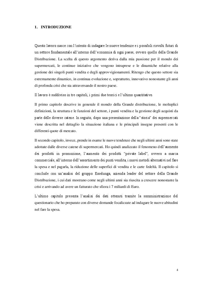 Anteprima della tesi: La grande distribuzione organizzata in Italia: prospettive e sviluppi, Pagina 2