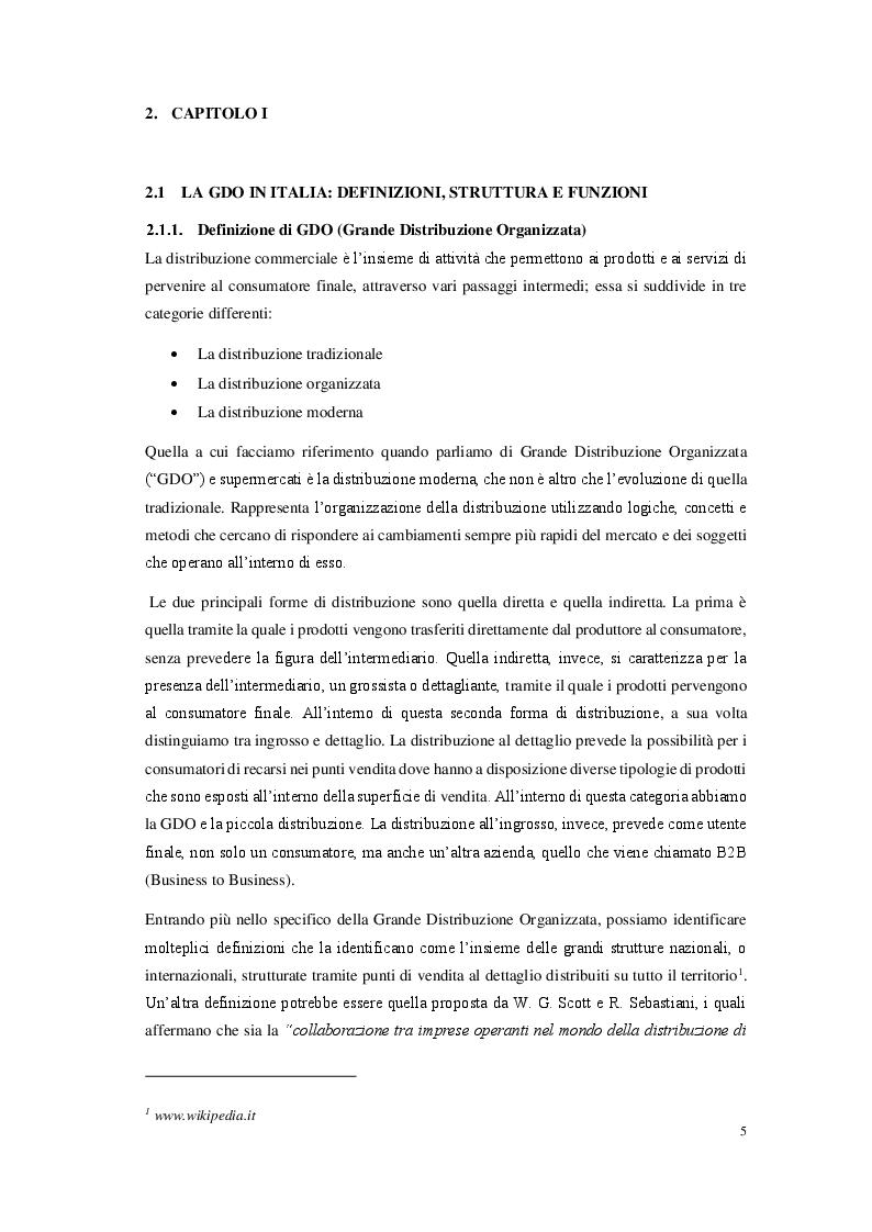 Anteprima della tesi: La grande distribuzione organizzata in Italia: prospettive e sviluppi, Pagina 3