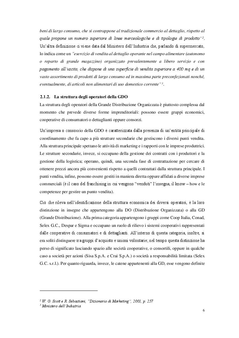 Anteprima della tesi: La grande distribuzione organizzata in Italia: prospettive e sviluppi, Pagina 4