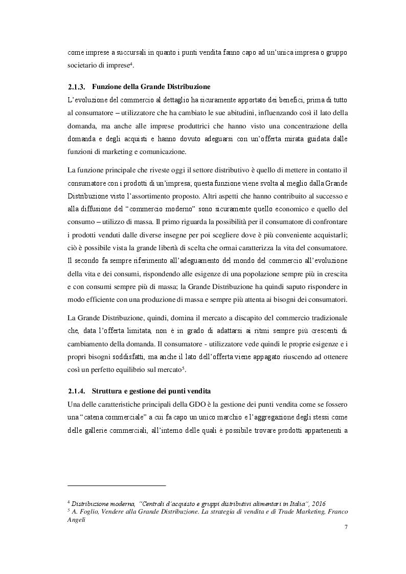 Anteprima della tesi: La grande distribuzione organizzata in Italia: prospettive e sviluppi, Pagina 5