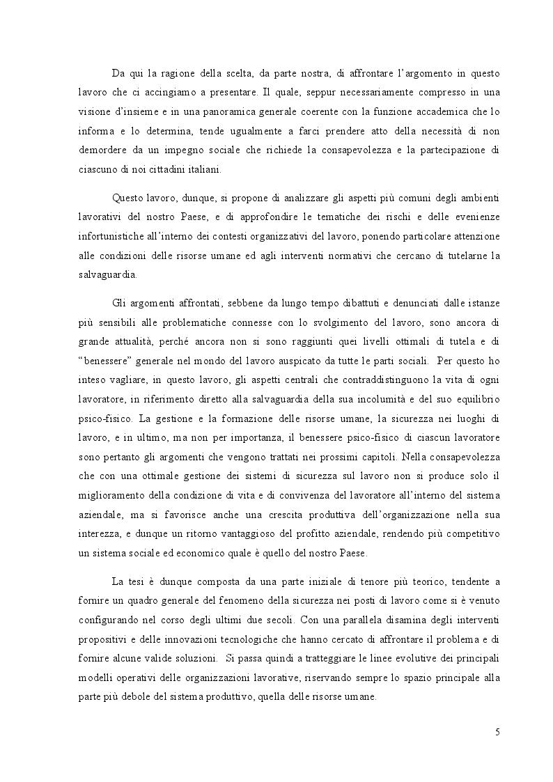 Anteprima della tesi: Benessere organizzativo e stress da lavoro correlato, Pagina 3