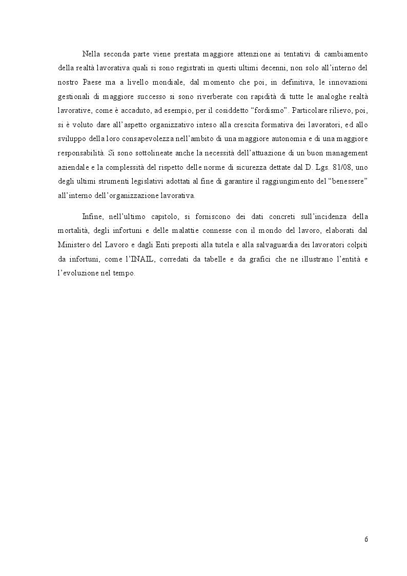 Anteprima della tesi: Benessere organizzativo e stress da lavoro correlato, Pagina 4