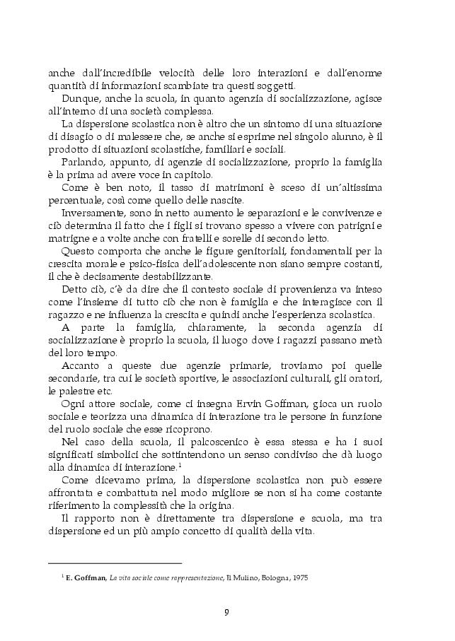 Anteprima della tesi: Dispersione scolastica e pedagogia dello sport: il progetto E.Sp.Air, Pagina 6