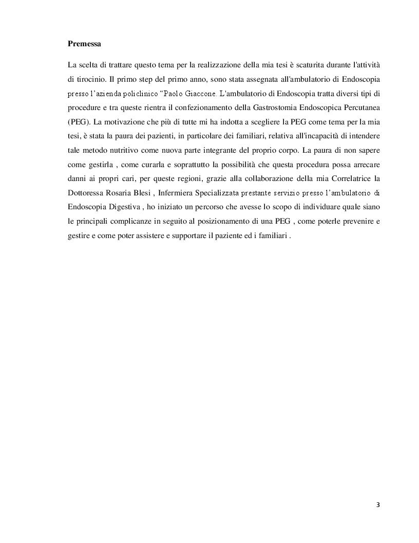 Anteprima della tesi: Gestione delle complicanze nei pazienti portatori di PEG, Pagina 2