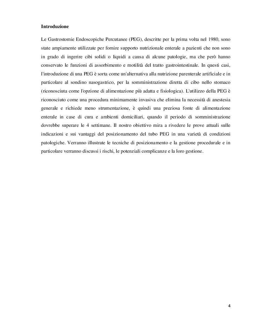 Anteprima della tesi: Gestione delle complicanze nei pazienti portatori di PEG, Pagina 3