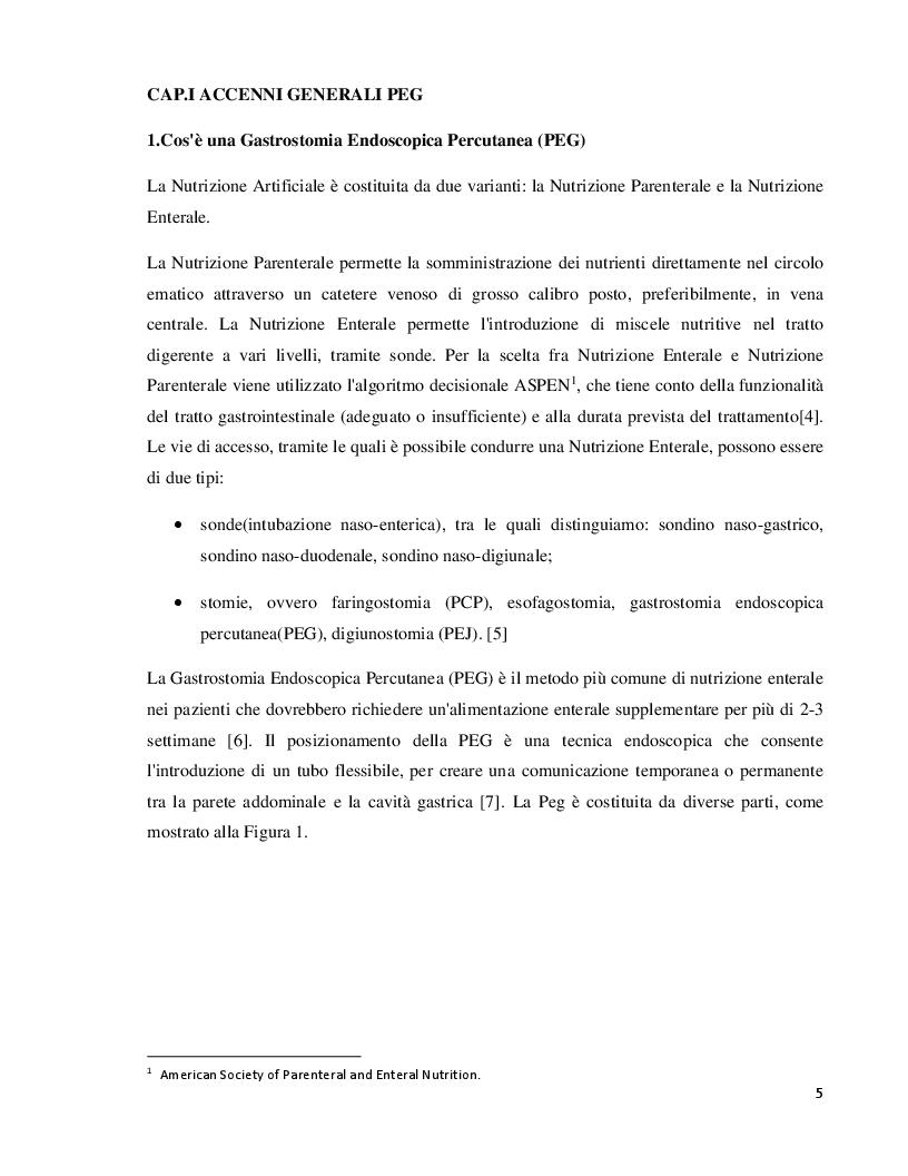 Anteprima della tesi: Gestione delle complicanze nei pazienti portatori di PEG, Pagina 4