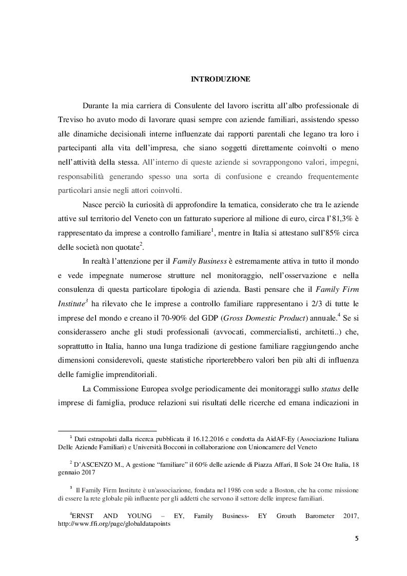Anteprima della tesi: Il ruolo del consulente psicologo a supporto delle imprese di famiglia, Pagina 2