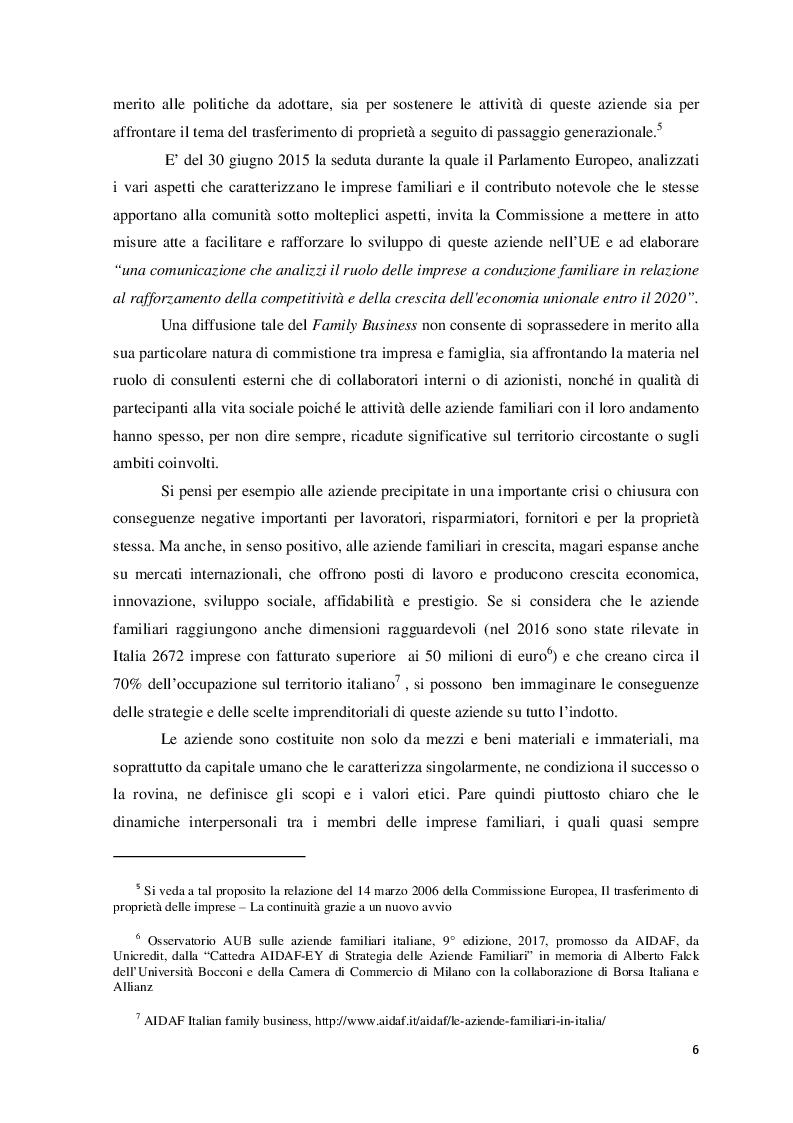 Anteprima della tesi: Il ruolo del consulente psicologo a supporto delle imprese di famiglia, Pagina 3