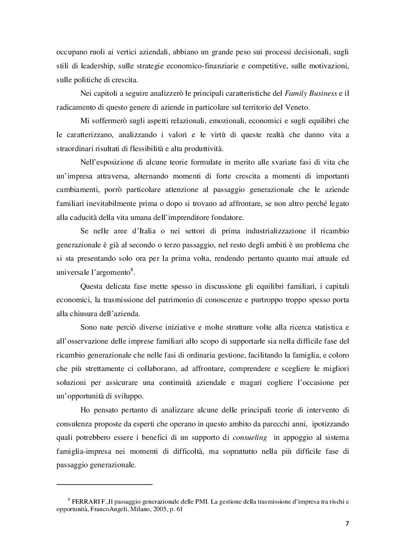 Anteprima della tesi: Il ruolo del consulente psicologo a supporto delle imprese di famiglia, Pagina 4