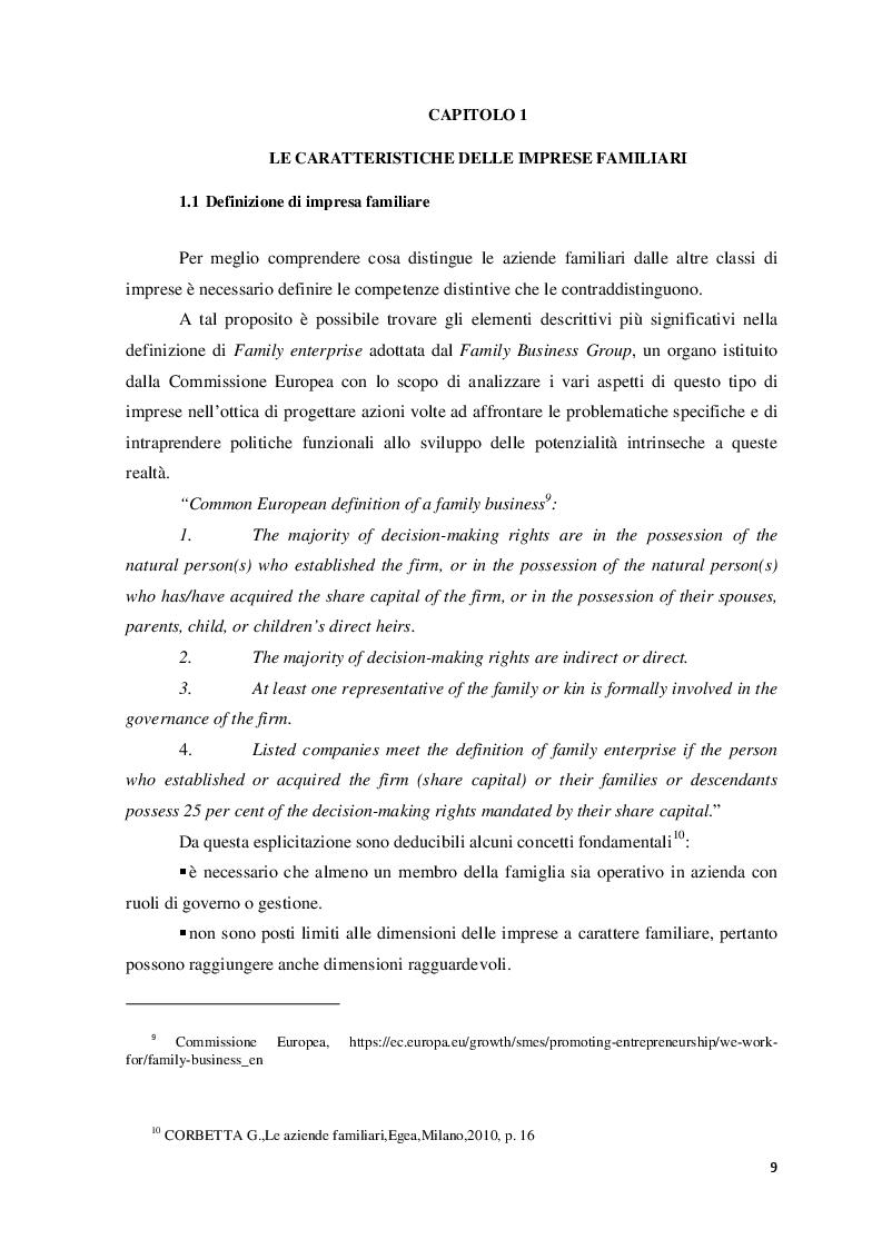 Anteprima della tesi: Il ruolo del consulente psicologo a supporto delle imprese di famiglia, Pagina 6