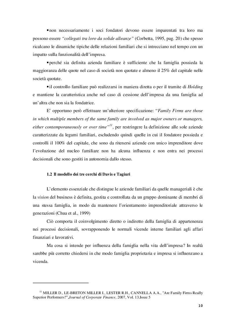 Anteprima della tesi: Il ruolo del consulente psicologo a supporto delle imprese di famiglia, Pagina 7