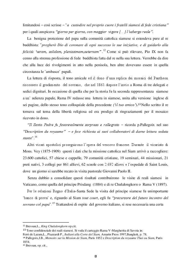 Estratto dalla tesi: Le Relazioni Santa Sede/Thailandia dal secondo conflitto mondiale ad oggi