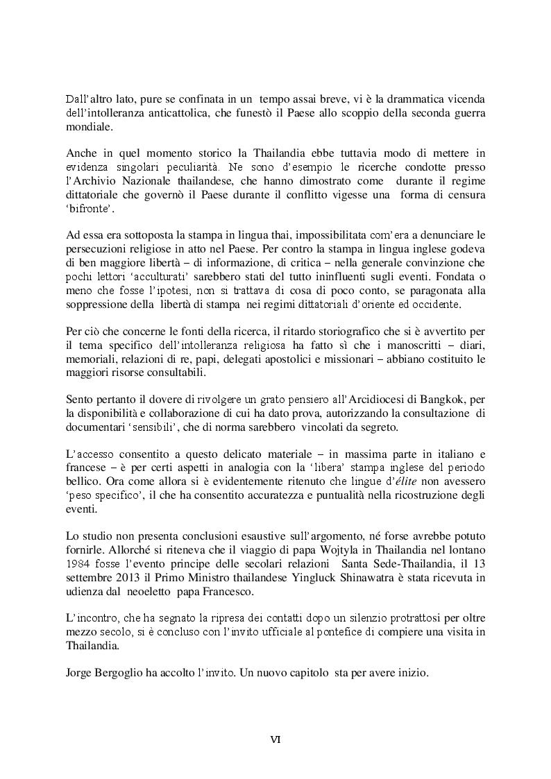 Anteprima della tesi: Le Relazioni Santa Sede/Thailandia dal secondo conflitto mondiale ad oggi, Pagina 3