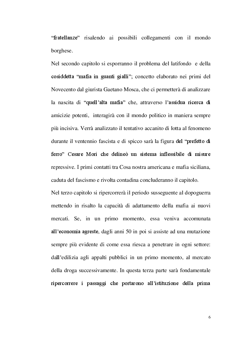 Anteprima della tesi: La repressione del fenomeno mafioso in Italia dal 1861 al secondo dopoguerra, Pagina 4