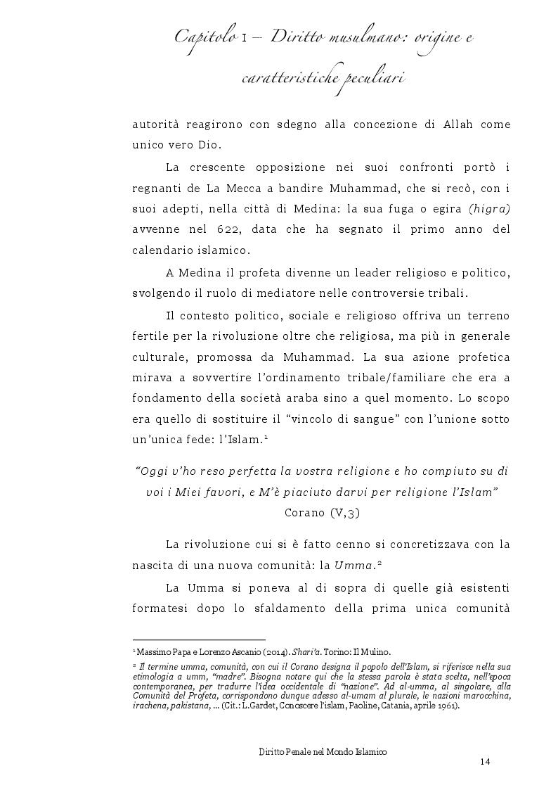 Anteprima della tesi: Diritto Penale nel mondo islamico, Pagina 10