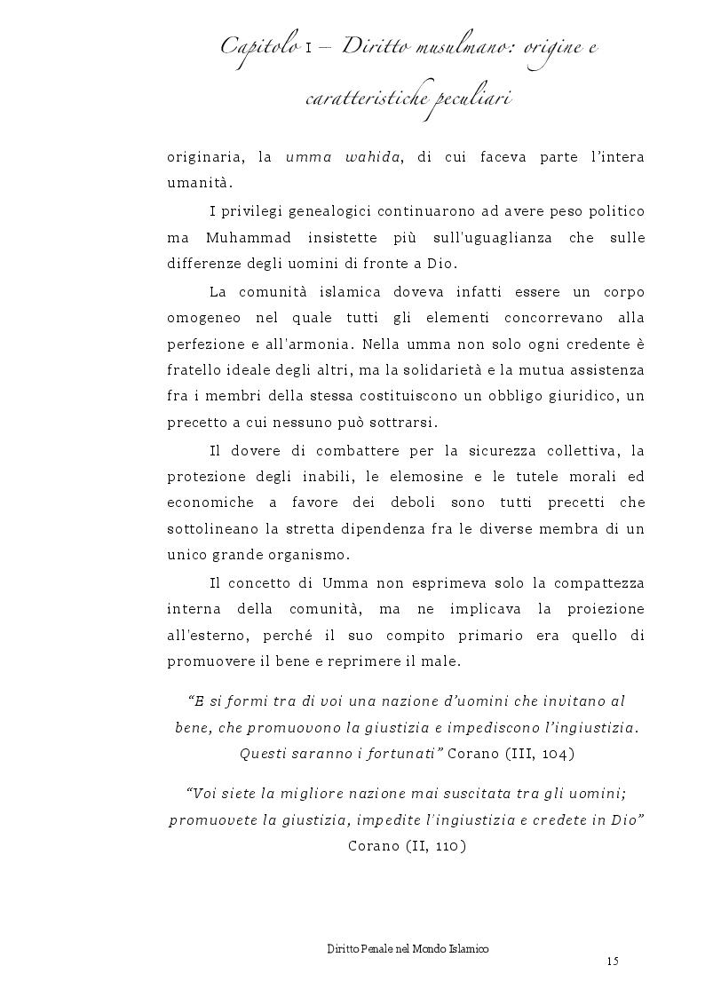 Anteprima della tesi: Diritto Penale nel mondo islamico, Pagina 11