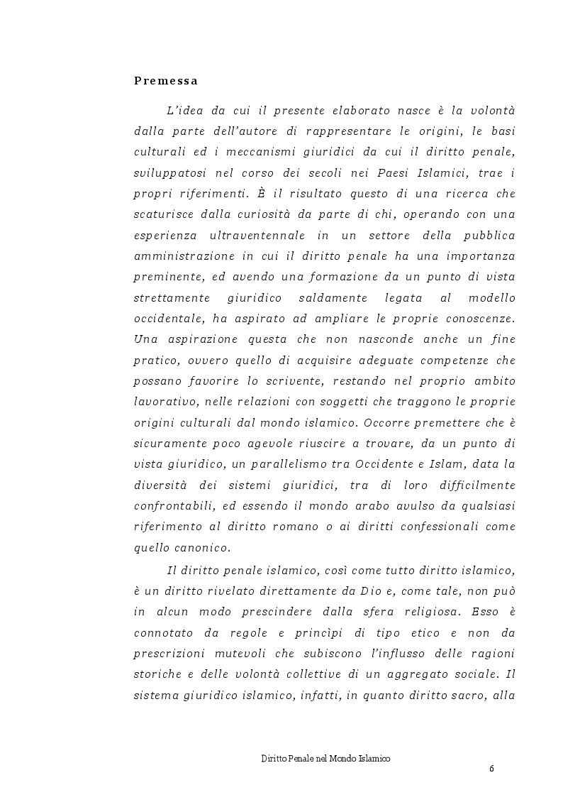 Anteprima della tesi: Diritto Penale nel mondo islamico, Pagina 2