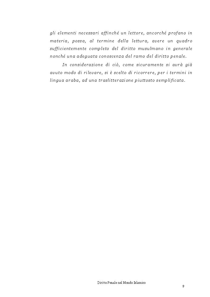 Anteprima della tesi: Diritto Penale nel mondo islamico, Pagina 5