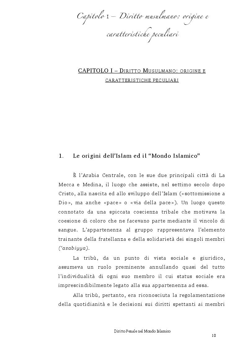 Anteprima della tesi: Diritto Penale nel mondo islamico, Pagina 6