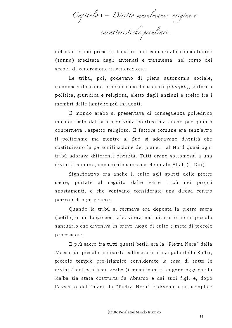 Anteprima della tesi: Diritto Penale nel mondo islamico, Pagina 7