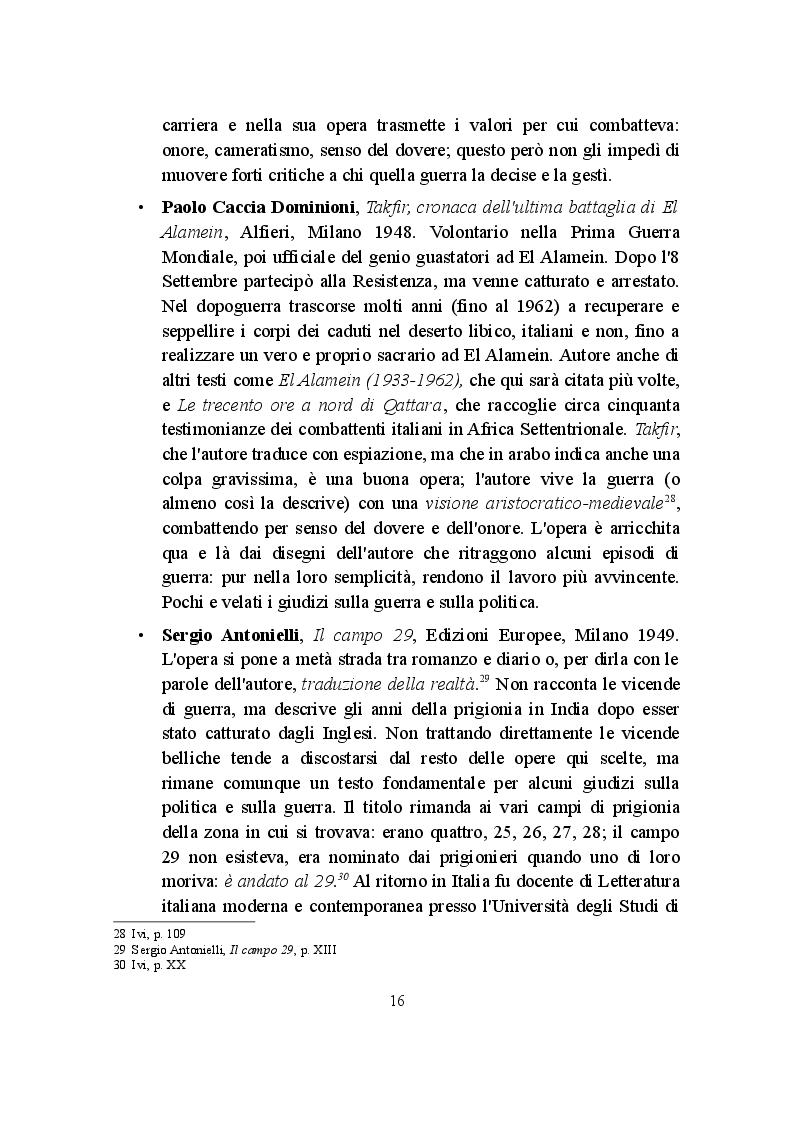 Anteprima della tesi: La Campagna d'Africa Settentrionale (1940-1943): memorialisti italiani a confronto, Pagina 3