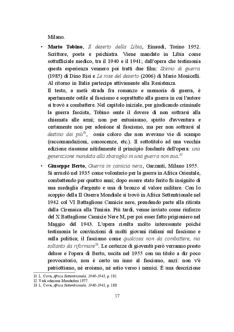 Anteprima della tesi: La Campagna d'Africa Settentrionale (1940-1943): memorialisti italiani a confronto, Pagina 4