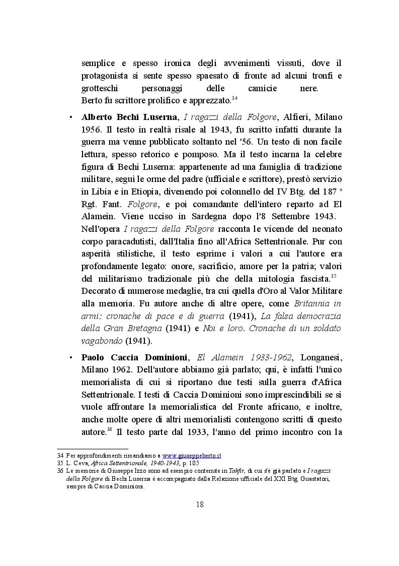 Anteprima della tesi: La Campagna d'Africa Settentrionale (1940-1943): memorialisti italiani a confronto, Pagina 5