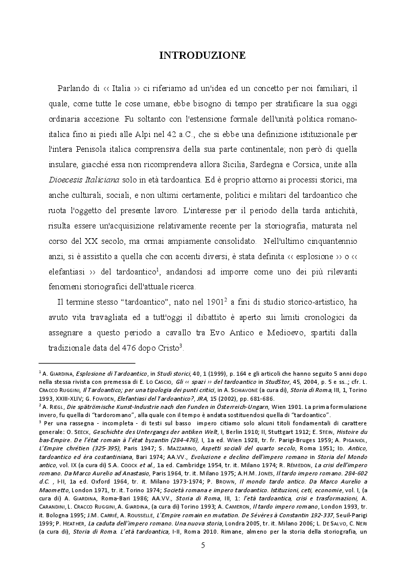 Anteprima della tesi: La provincializzazione dell'Italia romana. Persistenze e cesure dal Principato al Basso Impero, Pagina 2