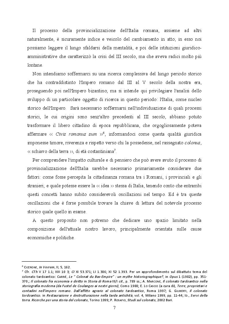 Anteprima della tesi: La provincializzazione dell'Italia romana. Persistenze e cesure dal Principato al Basso Impero, Pagina 4