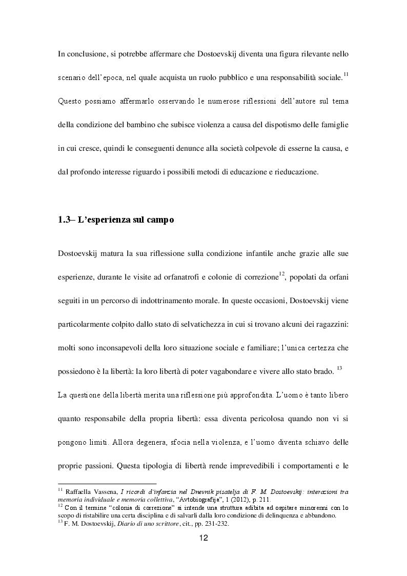 Estratto dalla tesi: La concezione del bambino nell'opera ''Diario di uno scrittore'' di F.M. Dostoevskij