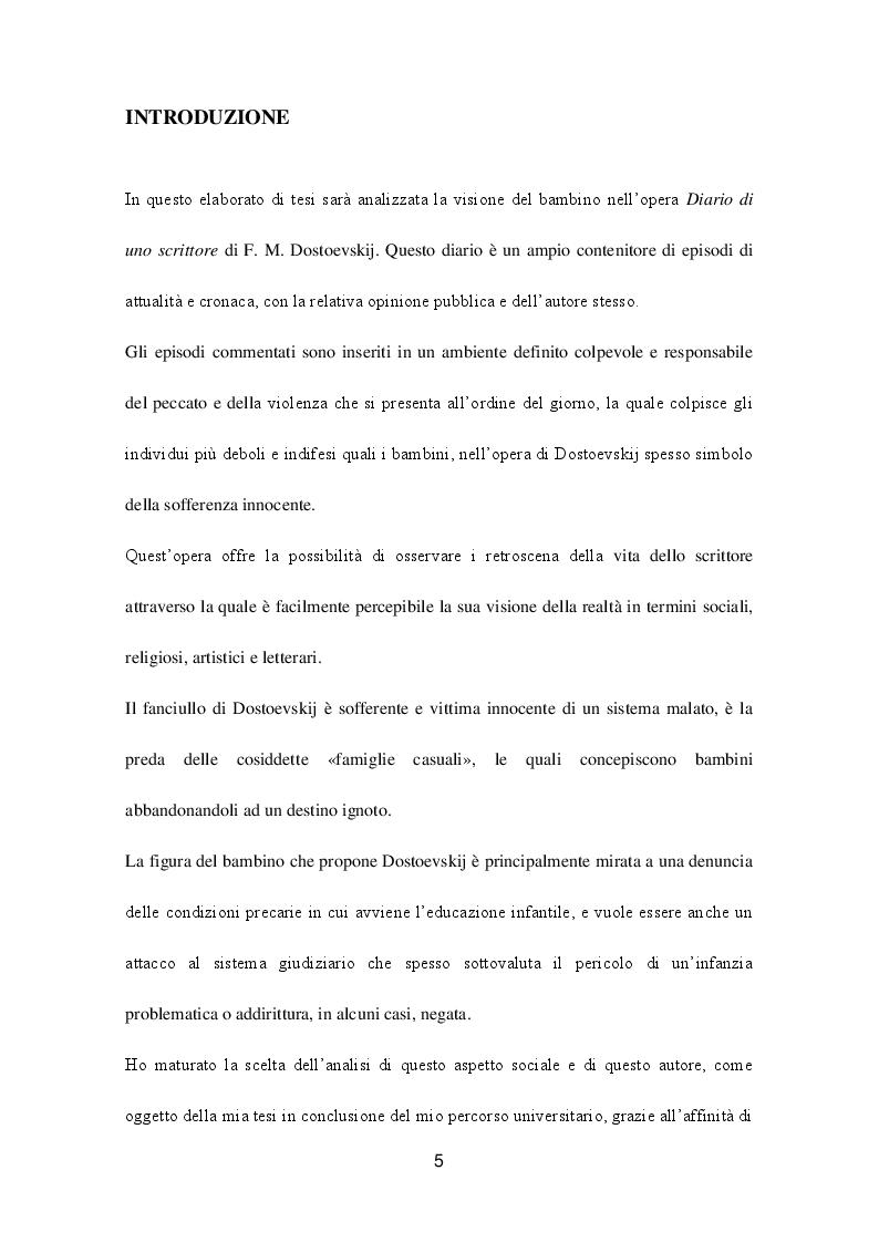 Anteprima della tesi: La concezione del bambino nell'opera ''Diario di uno scrittore'' di F.M. Dostoevskij, Pagina 2