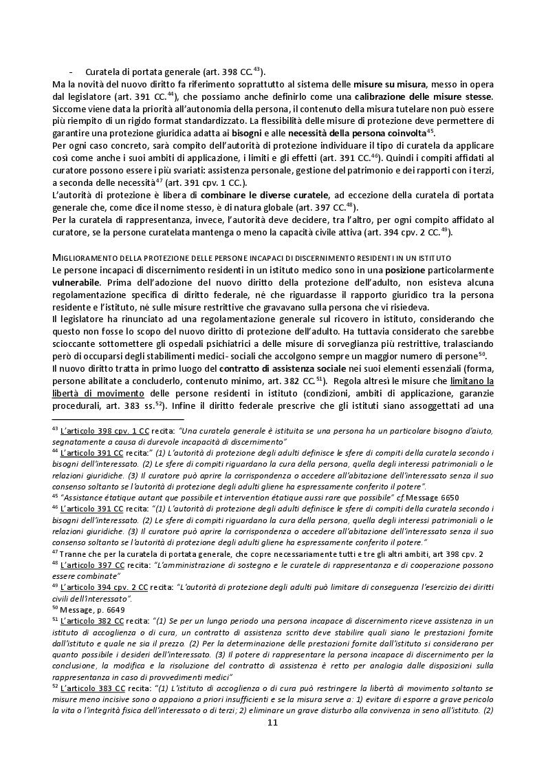 Estratto dalla tesi: Il mandato precauzionale e le direttive anticipate nel nuovo diritto svizzero di protezione dell'adulto