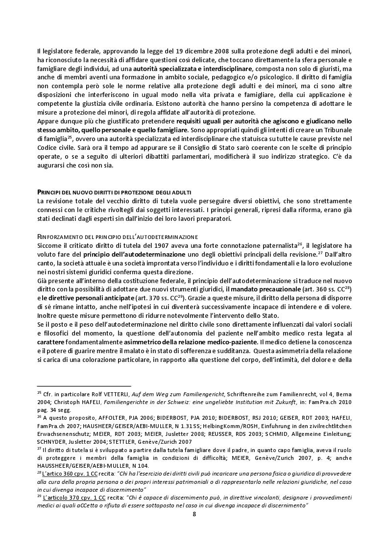Anteprima della tesi: Il mandato precauzionale e le direttive anticipate nel nuovo diritto svizzero di protezione dell'adulto, Pagina 11