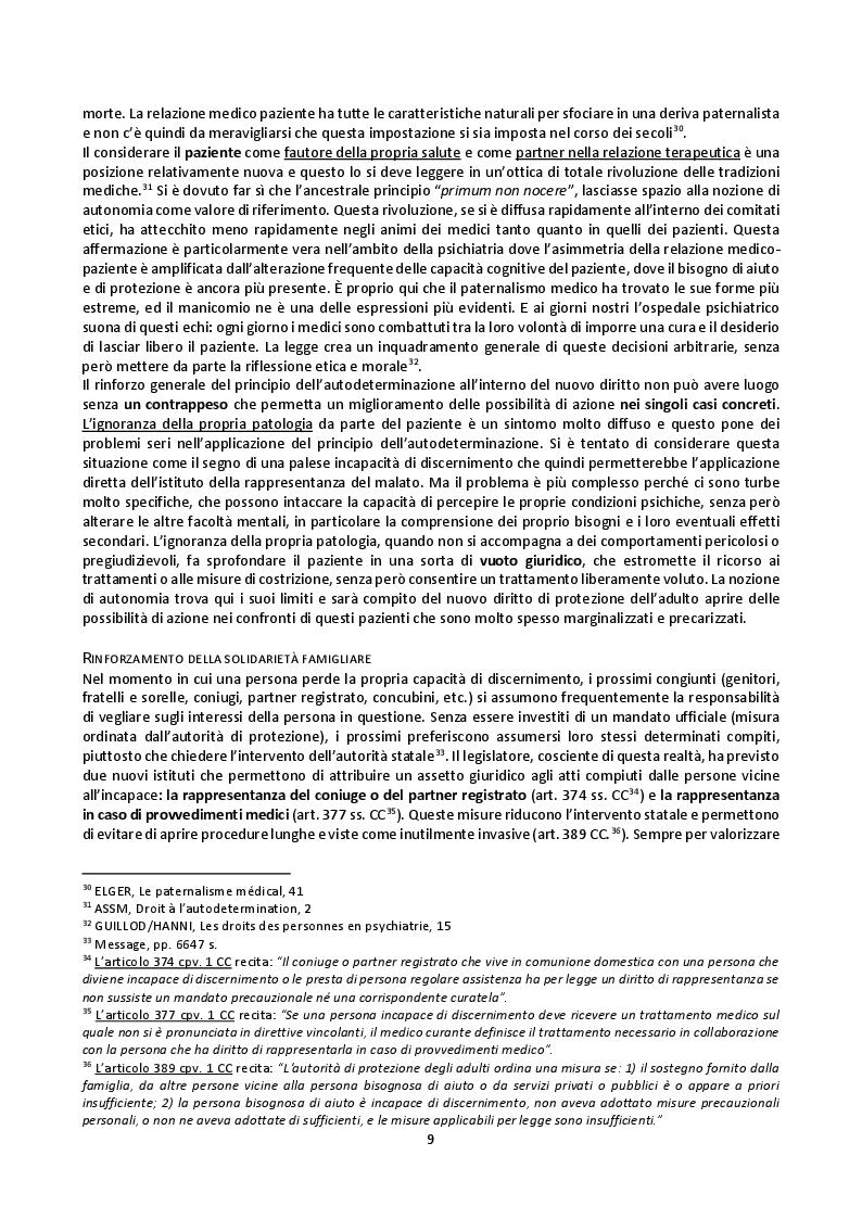 Anteprima della tesi: Il mandato precauzionale e le direttive anticipate nel nuovo diritto svizzero di protezione dell'adulto, Pagina 12
