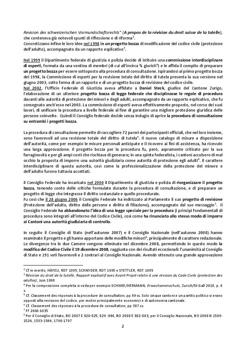 Anteprima della tesi: Il mandato precauzionale e le direttive anticipate nel nuovo diritto svizzero di protezione dell'adulto, Pagina 5