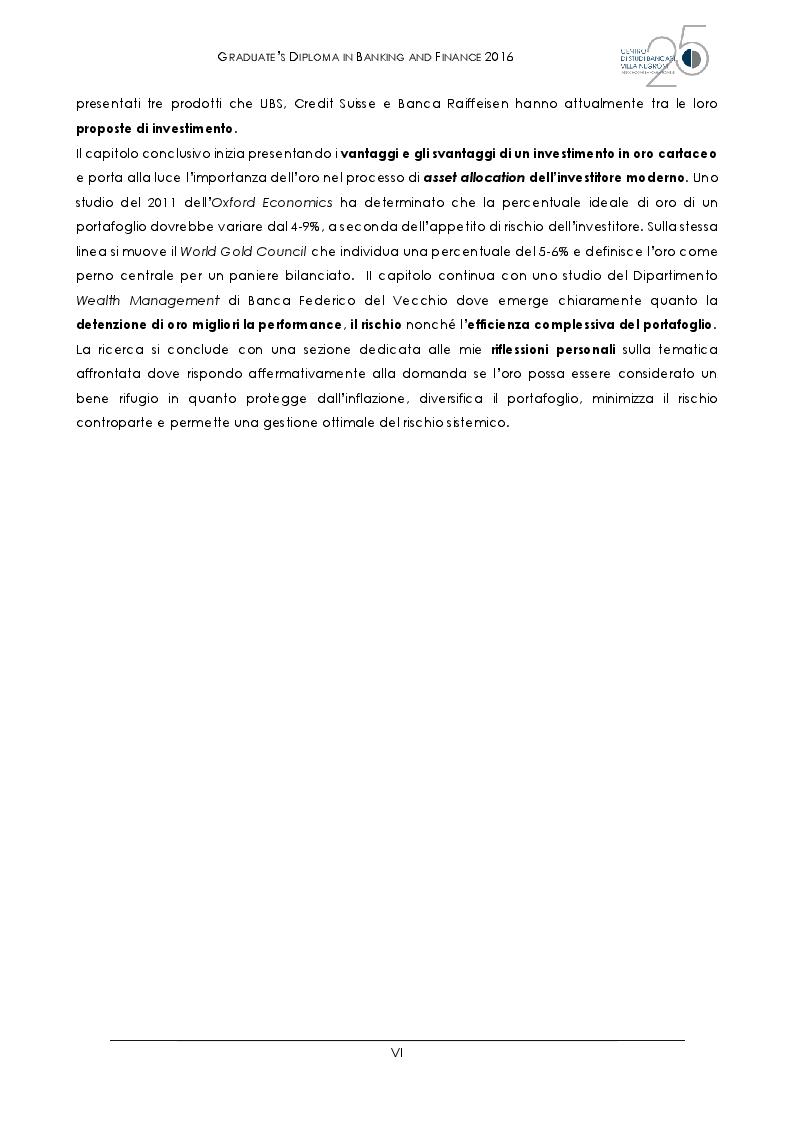 Anteprima della tesi: L'oro al tempo della crisi: bene rifugio o grande inganno?, Pagina 3