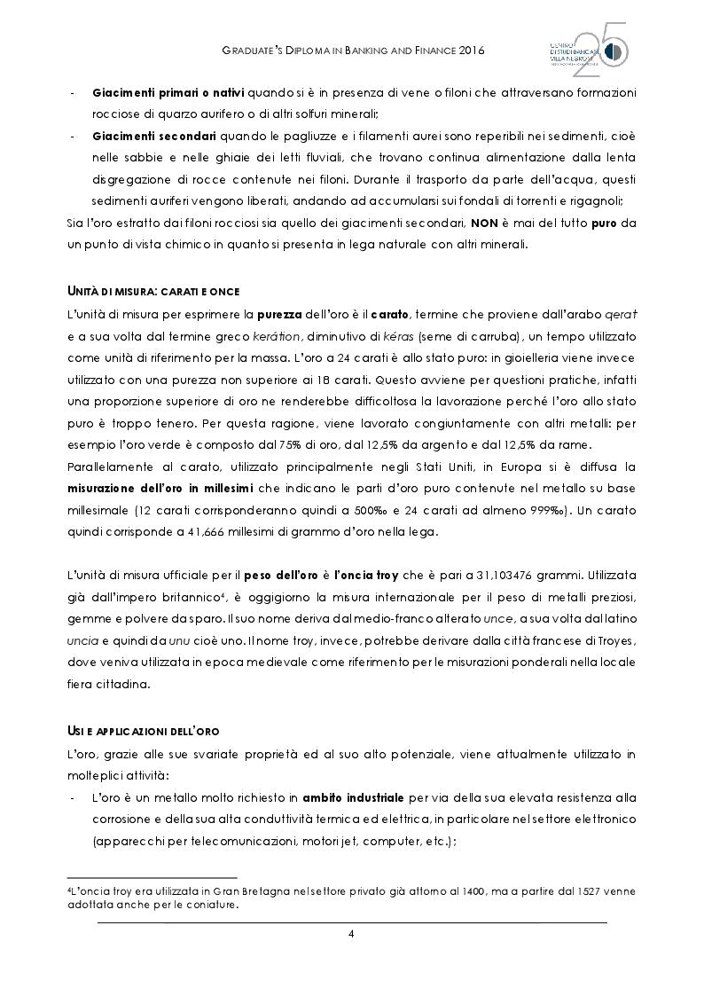 Anteprima della tesi: L'oro al tempo della crisi: bene rifugio o grande inganno?, Pagina 7