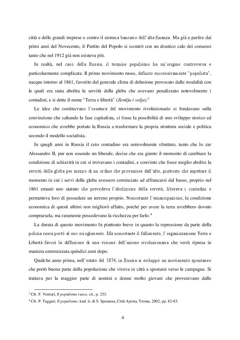 Anteprima della tesi: Politica e retorica del popolo sovrano. Dal populismo arcaico al populismo mediatico, Pagina 5