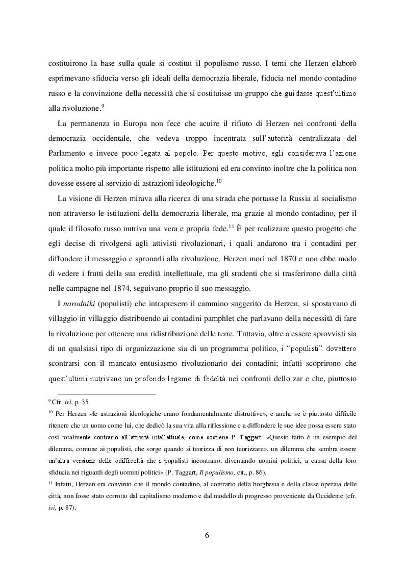 Anteprima della tesi: Politica e retorica del popolo sovrano. Dal populismo arcaico al populismo mediatico, Pagina 7