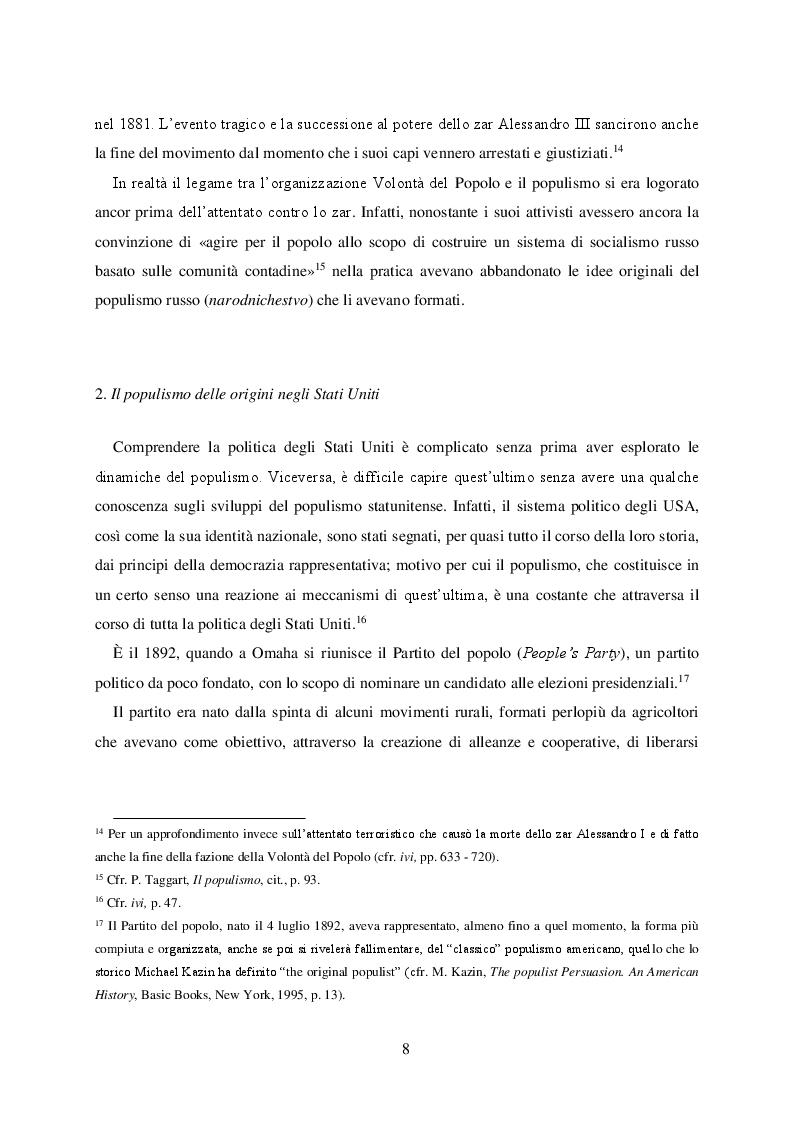 Anteprima della tesi: Politica e retorica del popolo sovrano. Dal populismo arcaico al populismo mediatico, Pagina 9