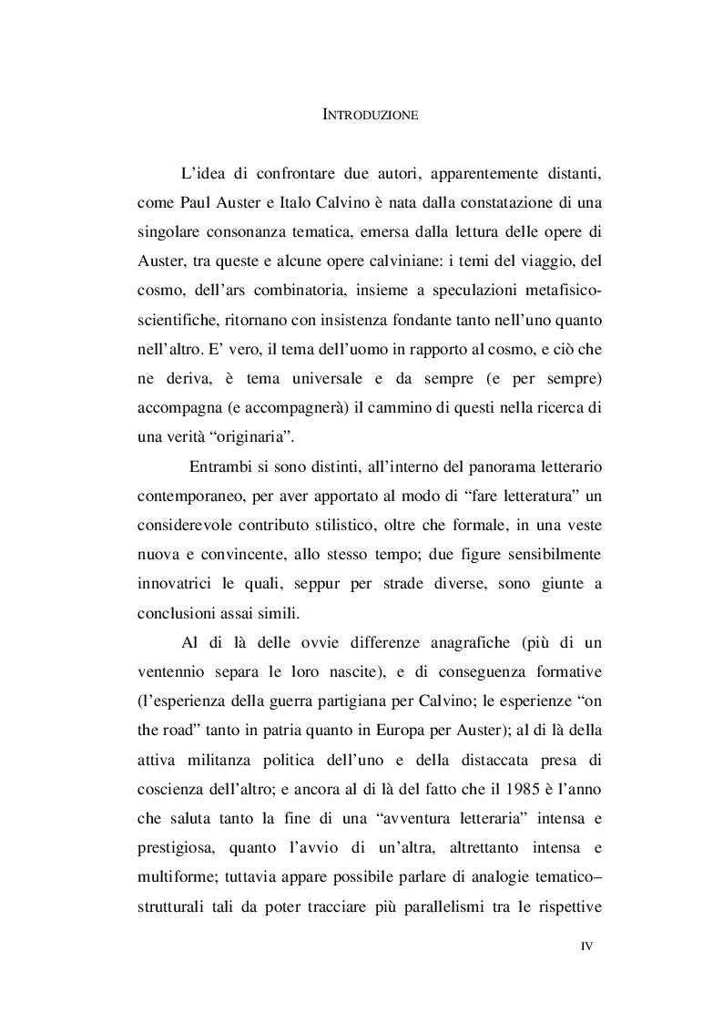 Anteprima della tesi: Paul Auster e Italo Calvino: tra Metafisica e Memoria, Pagina 2