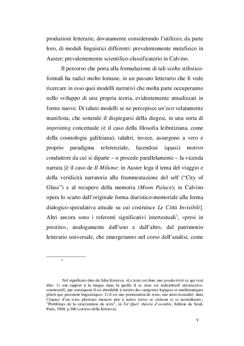 Anteprima della tesi: Paul Auster e Italo Calvino: tra Metafisica e Memoria, Pagina 3