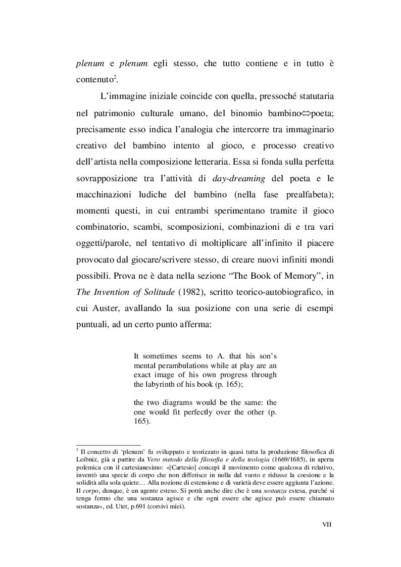 Anteprima della tesi: Paul Auster e Italo Calvino: tra Metafisica e Memoria, Pagina 5