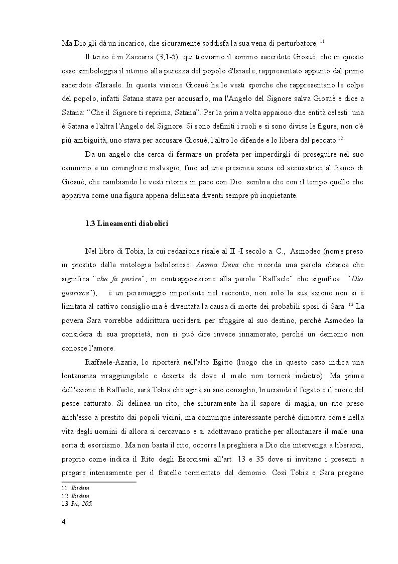 Anteprima della tesi: Dal serpente dell'Eden a Satana in doppiopetto: la figura diabolica nella Sacra Scrittura e nel Cinema, Pagina 5