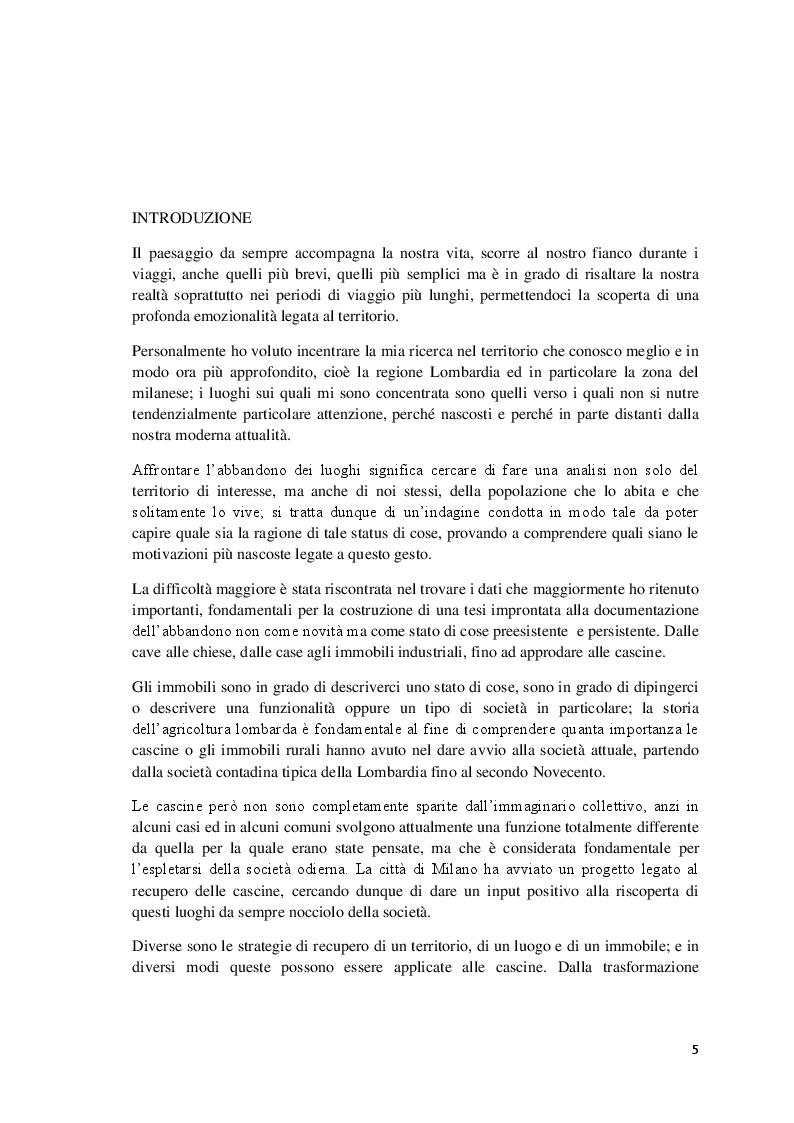 Anteprima della tesi: L'abbandono della ruralità: la riscoperta della cascina per l'affermazione di un paesaggio consapevole, Pagina 2