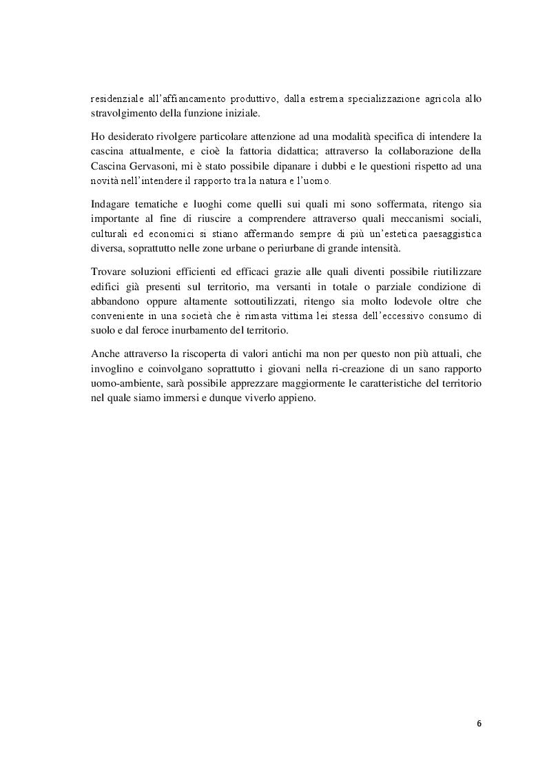 Anteprima della tesi: L'abbandono della ruralità: la riscoperta della cascina per l'affermazione di un paesaggio consapevole, Pagina 3