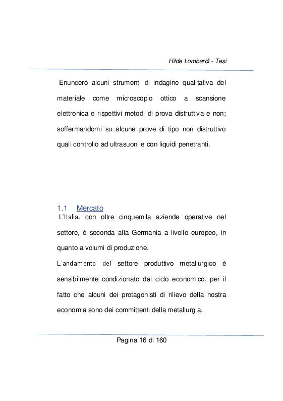 Anteprima della tesi: Strumenti e metodi diagnostici per il controllo qualità dei settore metallurgico, Pagina 10