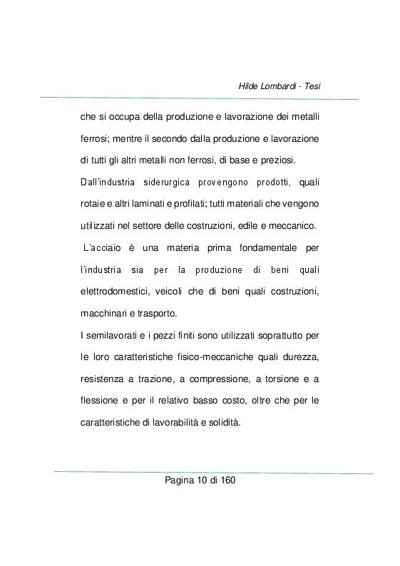 Anteprima della tesi: Strumenti e metodi diagnostici per il controllo qualità dei settore metallurgico, Pagina 4