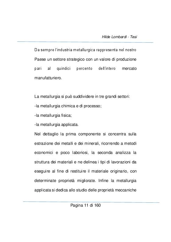 Anteprima della tesi: Strumenti e metodi diagnostici per il controllo qualità dei settore metallurgico, Pagina 5