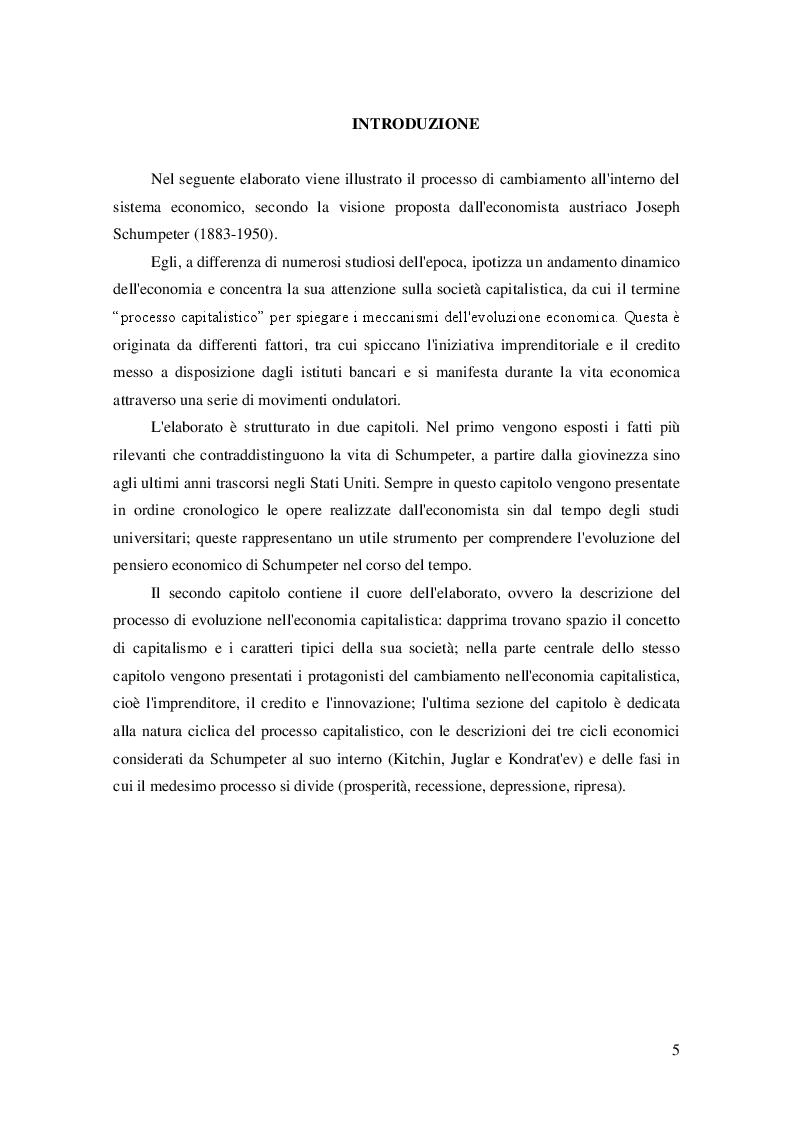 Anteprima della tesi: Joseph Schumpeter e l'evoluzione dell'economia capitalistica, Pagina 3